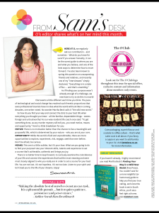 O Magazine March 14 issue